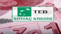 TEB'de Ayda 143 TL'ye 5 Bin TL Kredi