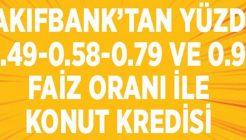 Vakıfbank Sarı Panjur Konut Kredisi 0.58, 0.79 ve 0.93 Faiz Oranları
