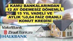 Vakıfbank, Halkbank, Ziraat Bankası 12 Ay Geri Ödemesiz Konut Kredisi Nasıl Alınır?