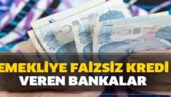 SGK ve Bağ Kur Emeklilerine Bankalardan Faizsiz Kredi İmkanı
