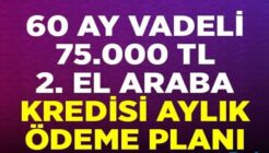 Ziraat Bankası Halkbank Vakıfbank 75 bin TL 2. El Araba Kredisi