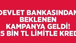 Devlet Bankalarından 125 Bin TL Limitli Ertelemeli Kredi