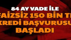 84 Ay Vadeli Faizsiz Destek Kredisi Kampanyası Duyuruldu!