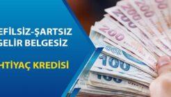 Gelir Belgesiz Kefilsiz 15 Bin TL Kredi Veren Bankalar