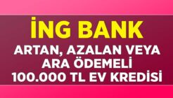 ING Bank Farklı Ödeme Seçenekleri İle 100 Bin TL Ev Kredisi Kampanyası!