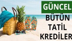 2021 Yarıyıl Tatiline Özel Bankaların Tatil Kredi Kampanyaları!
