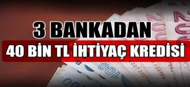 Akbank, TEB, Denizbank SMS ile 40 Bin TL Anında İhtiyaç Kredisi!