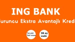 ING'den Turuncu Ekstra Avantajlı Kredi Kampanyası!