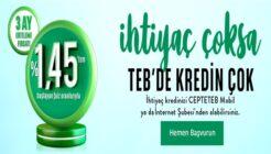 TEB'de İhtiyaç Çoksa Kredin Çok Kampanyası