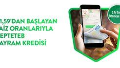 CEPTETEB 3 Ay Ertelemeli 100 Bin TL Bayram Kredisi Kampanyası