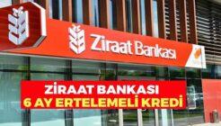 Ziraat Bankası'nda 6 Ay Ödemesiz Dönemli Destek Kredisi!